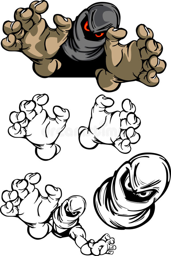 Logotipo da mascote do bandido ilustração stock