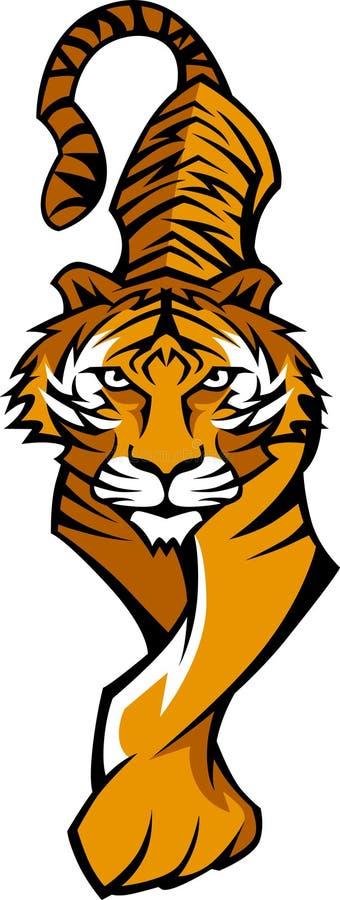 Logotipo da mascote do tigre ilustração do vetor