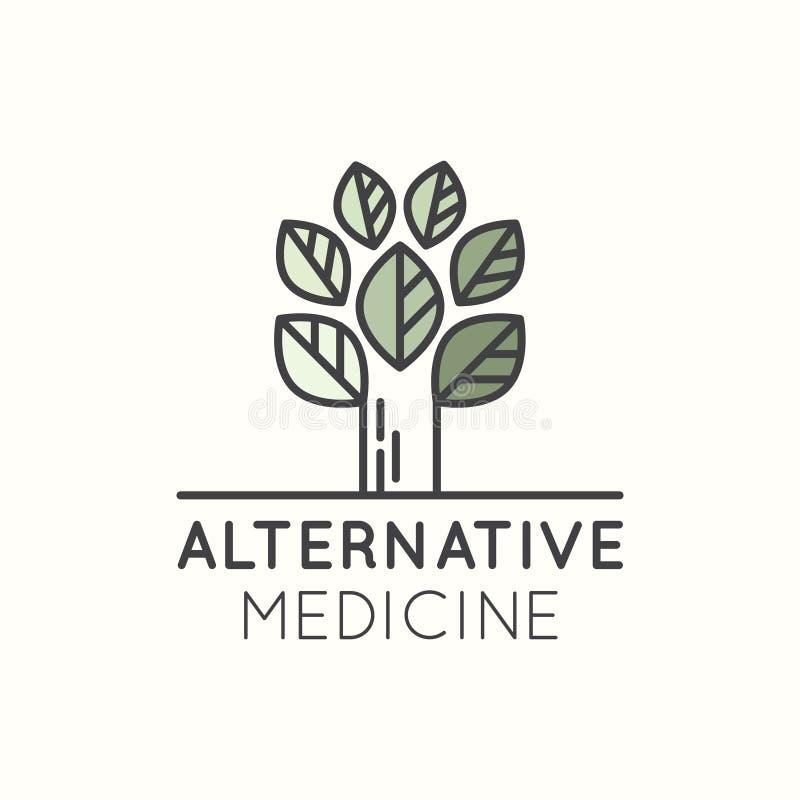 Logotipo da medicina alternativa ilustração royalty free