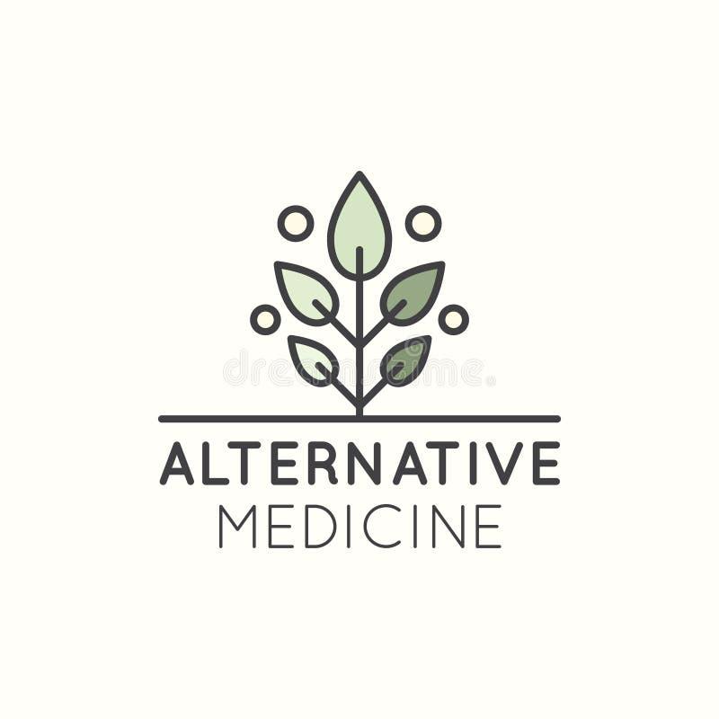 Logotipo da medicina alternativa ilustração do vetor