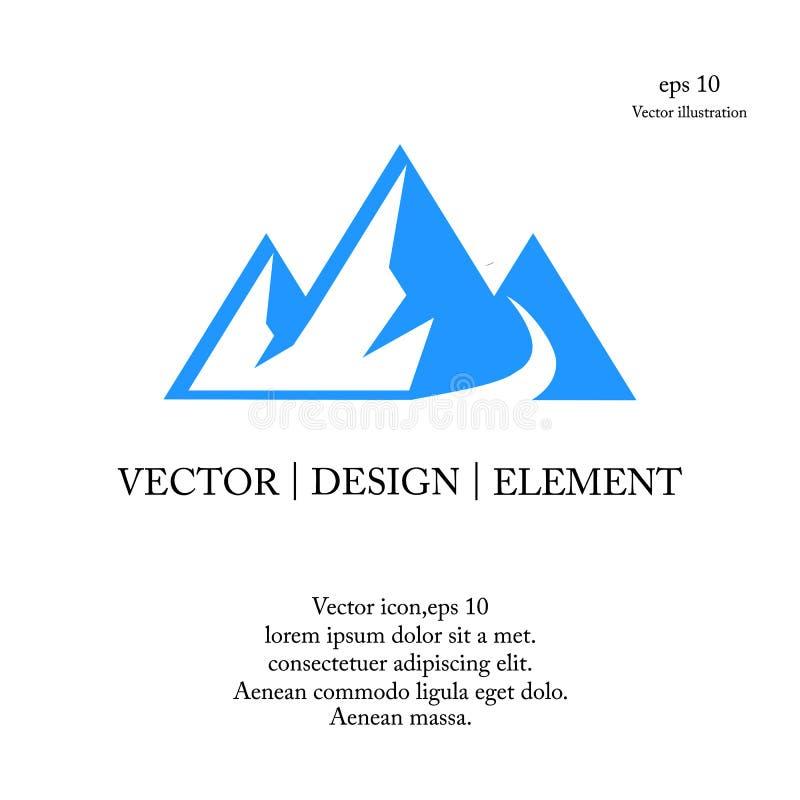 Logotipo da montagem do triângulo ilustração do vetor
