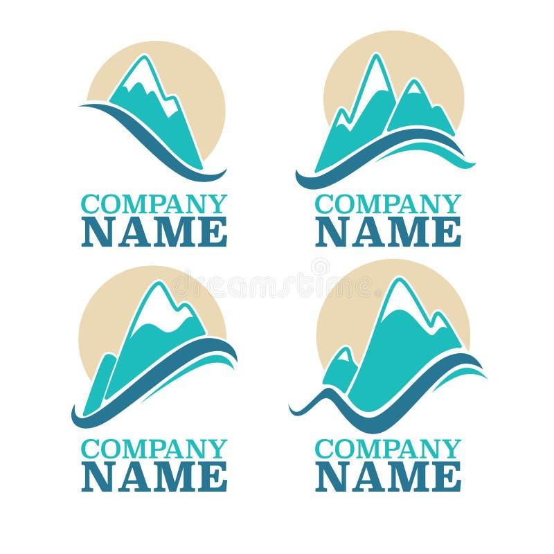 Logotipo da montanha ilustração do vetor
