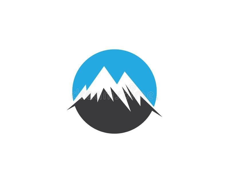 Logotipo da montanha e ícones dos símbolos ilustração royalty free