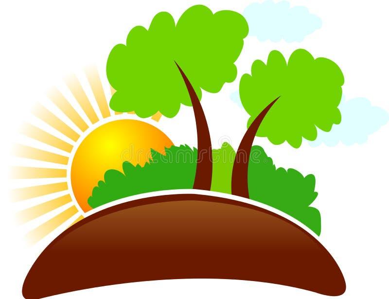 Logotipo da natureza ilustração stock
