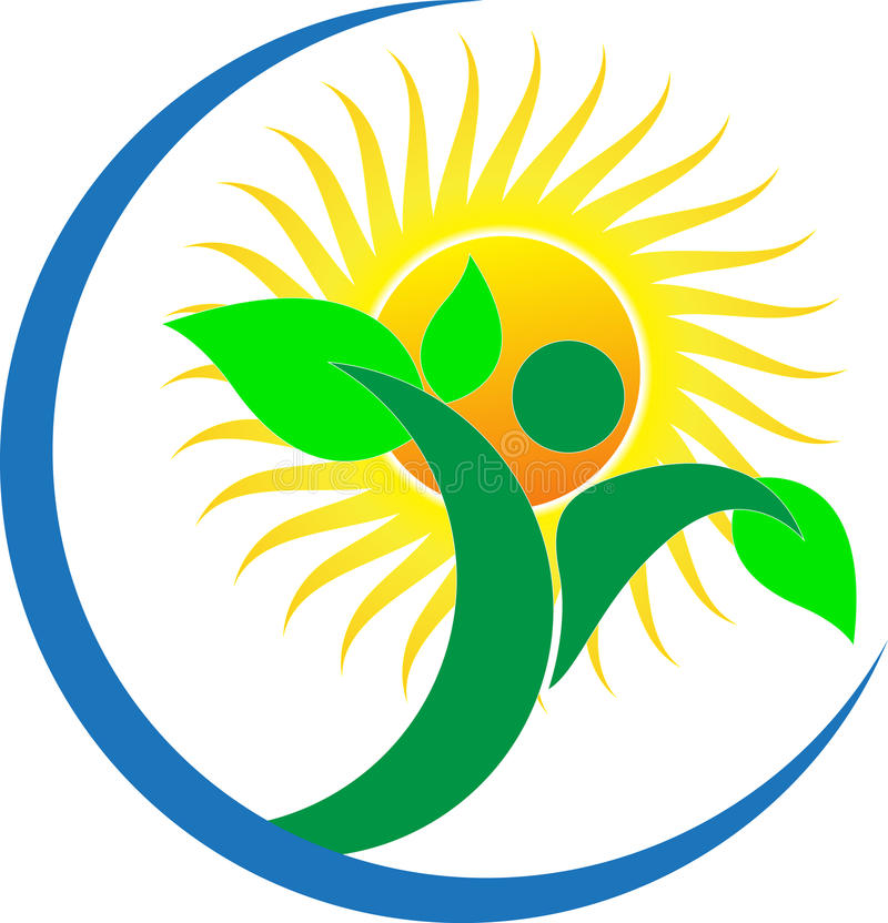 Logotipo da natureza ilustração royalty free
