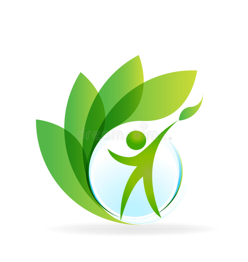 Logotipo da natureza da saúde ilustração royalty free