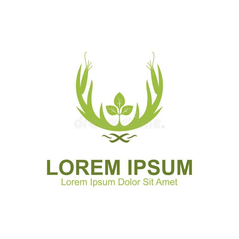 Logotipo da natureza dos cervos ilustração stock
