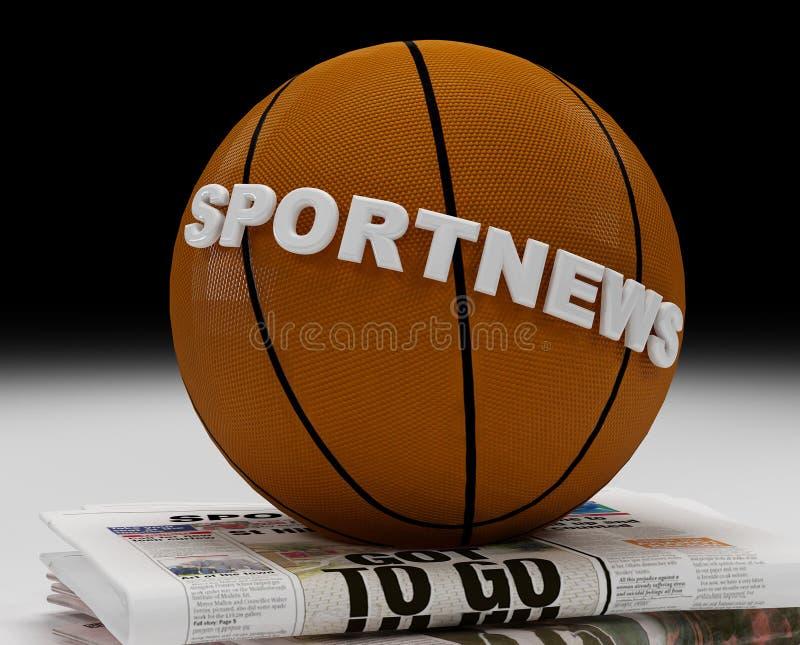 Logotipo da notícia do esporte fotos de stock