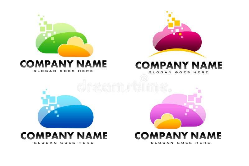 Logotipo da nuvem ilustração stock