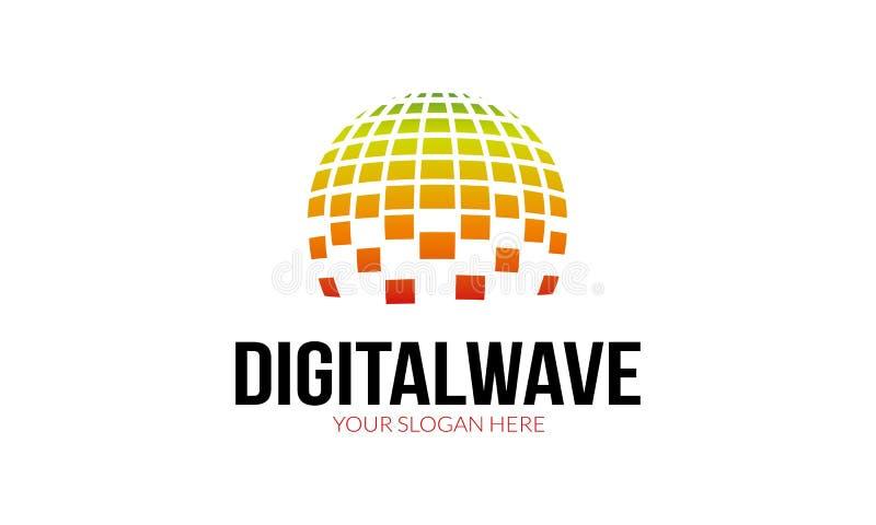 Logotipo da onda de Digitas ilustração royalty free
