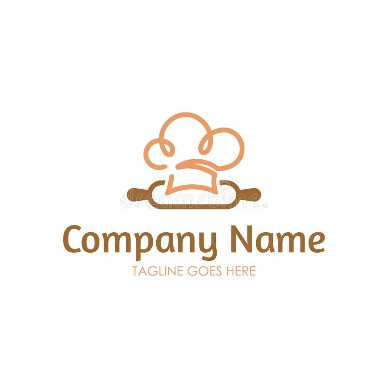 Logotipo da padaria ilustração stock