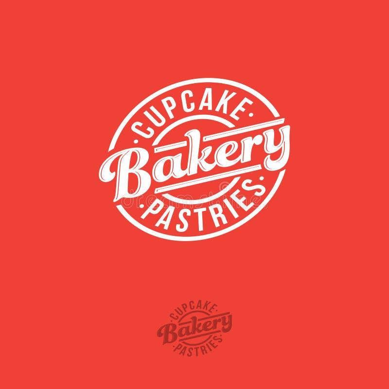 Logotipo da padaria Emblema superior da padaria Rotulação em um crachá circular ilustração royalty free