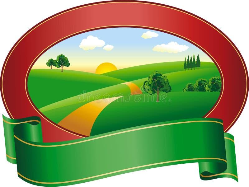 Logotipo da paisagem ilustração royalty free