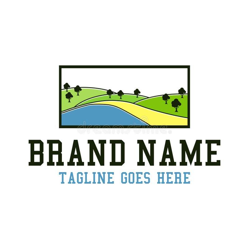 Logotipo da paisagem da plantação ilustração royalty free