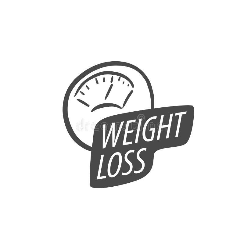 Logotipo da perda de peso ilustração do vetor