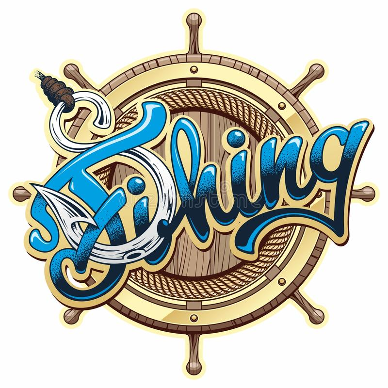 Logotipo da pesca ilustração stock