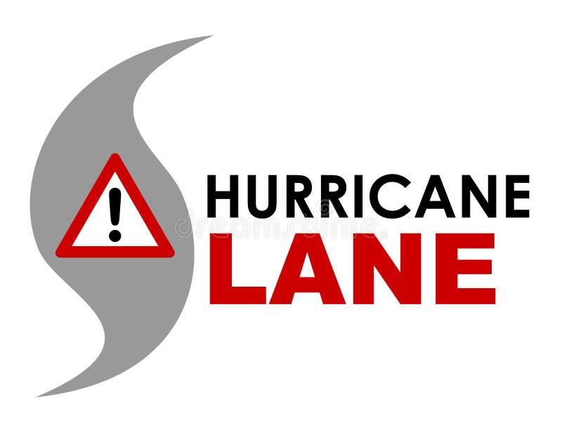 Logotipo da pista do furacão ilustração do vetor