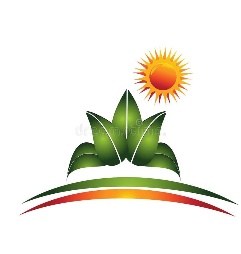 Logotipo da planta e do sol
