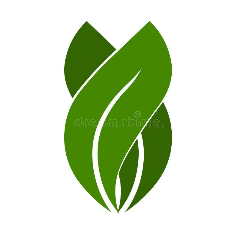 Logotipo da planta Ilustração do ícone do vetor da planta ilustração stock
