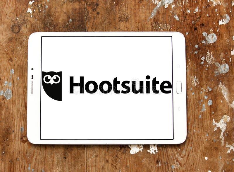 Logotipo da plataforma de Hootsuite fotos de stock royalty free