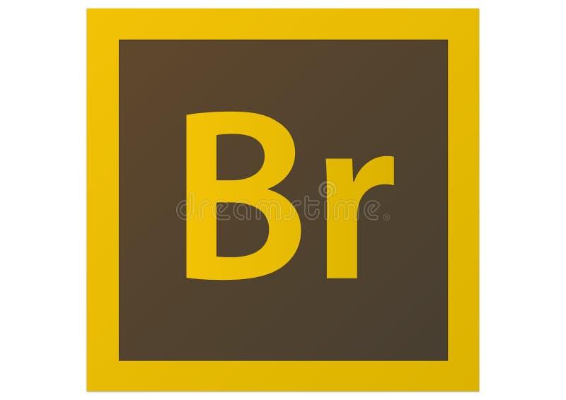 Logotipo da ponte CS6 de Adobe ilustração royalty free