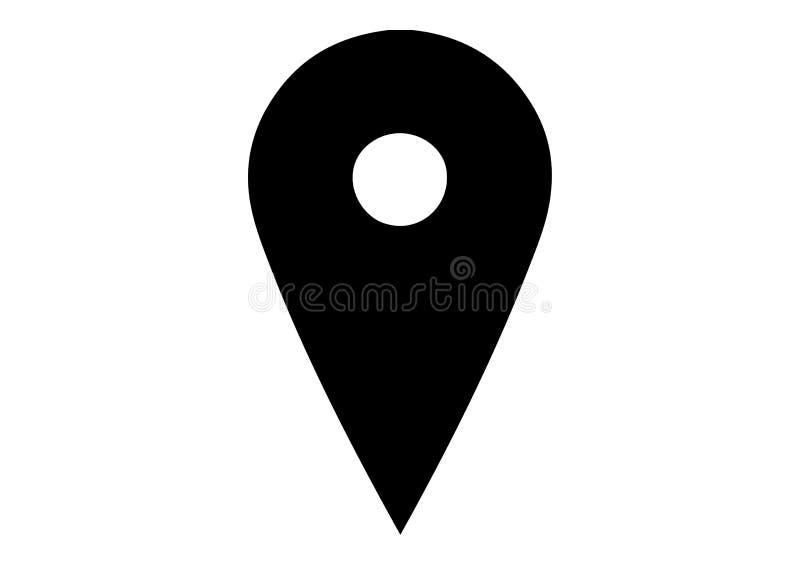 Logotipo da posição de Google Maps foto de stock