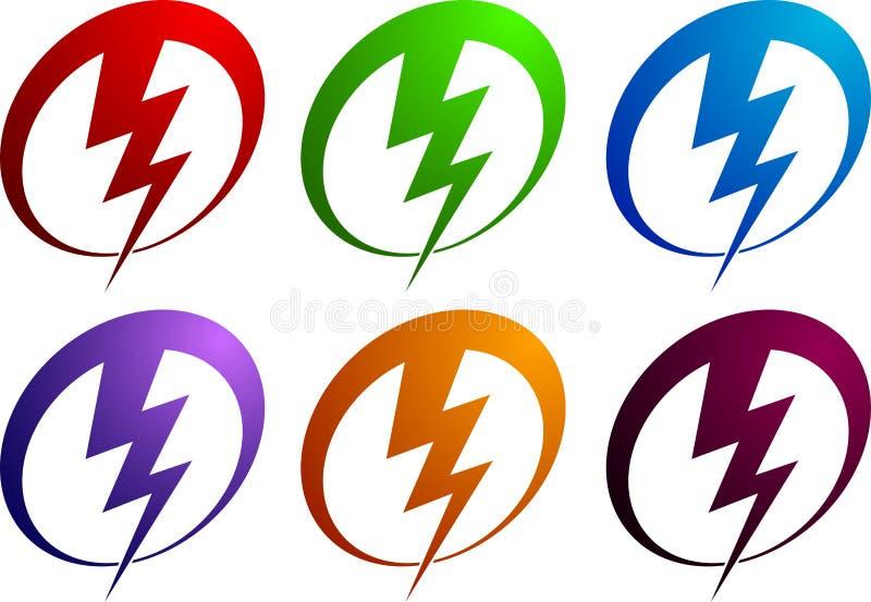 Logotipo da potência ilustração stock