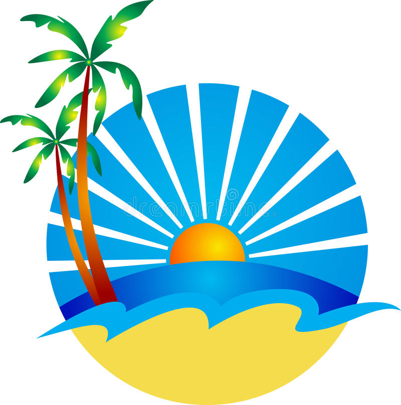 Logotipo da praia ilustração royalty free