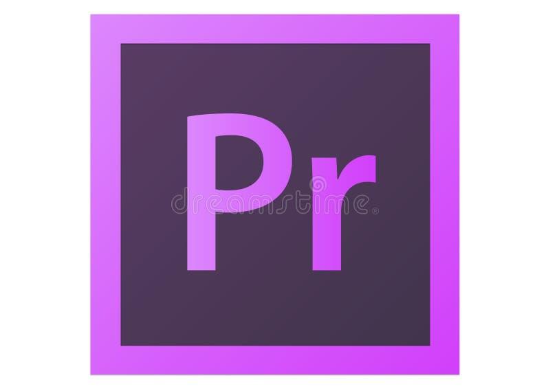 Logotipo da premier CS6 de Adobe ilustração do vetor
