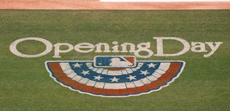 Logotipo da primeira jornada da Liga Nacional de Basebol imagens de stock royalty free