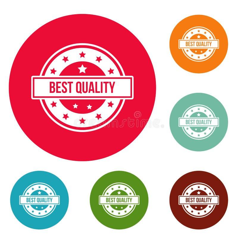 Logotipo da qualidade, estilo simples ilustração do vetor