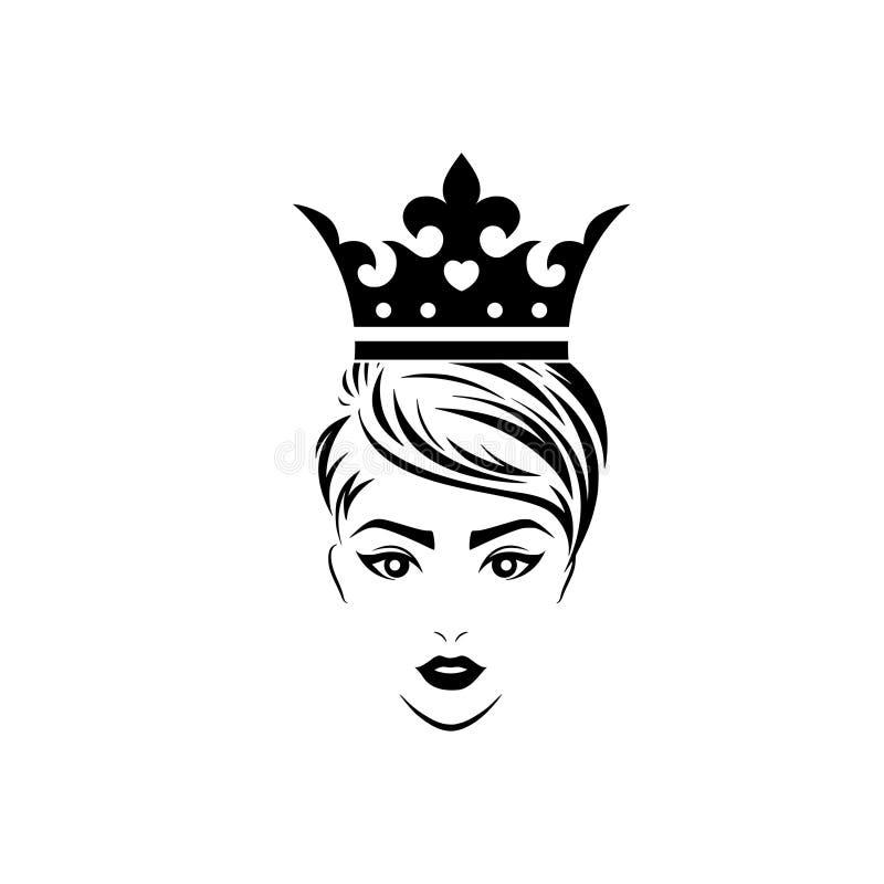 Logotipo da rainha Ilustração simples do logotipo da rainha para a Web ilustração do vetor