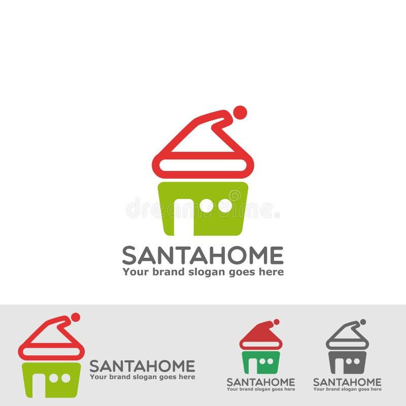 Logotipo da residência de Santa ilustração do vetor