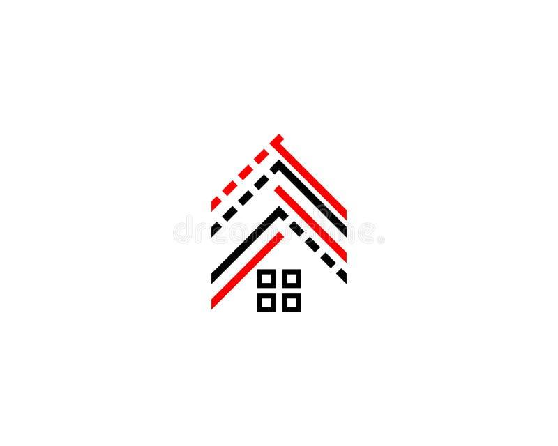 Logotipo da residência do telhado ilustração royalty free