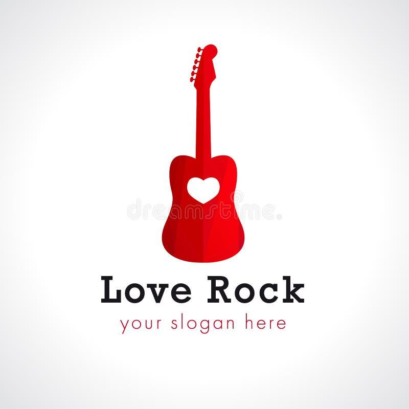 Logotipo da rocha do amor ilustração stock