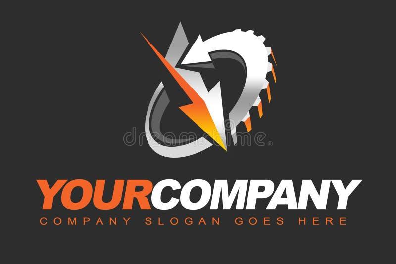 Logotipo da roda denteada ilustração royalty free