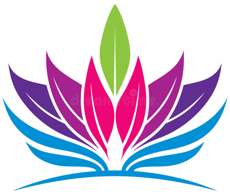 Logotipo da saúde da folha ilustração royalty free