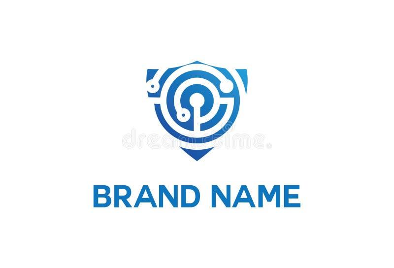 Logotipo da segurança da tecnologia ilustração royalty free