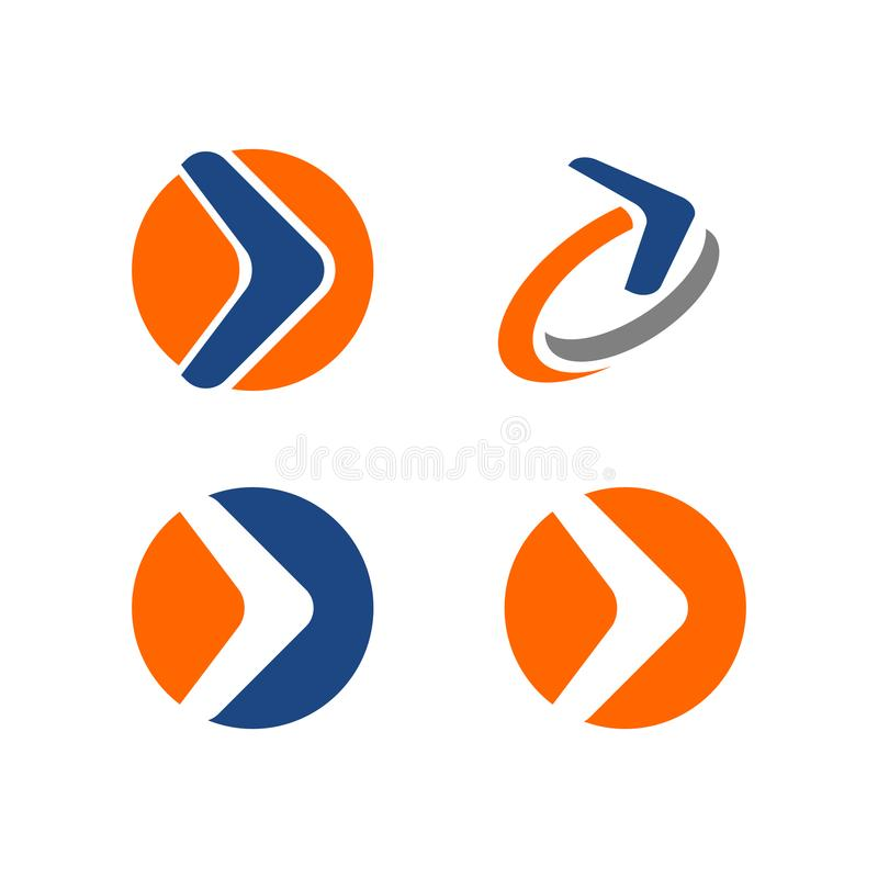 Logotipo da seta ilustração do vetor