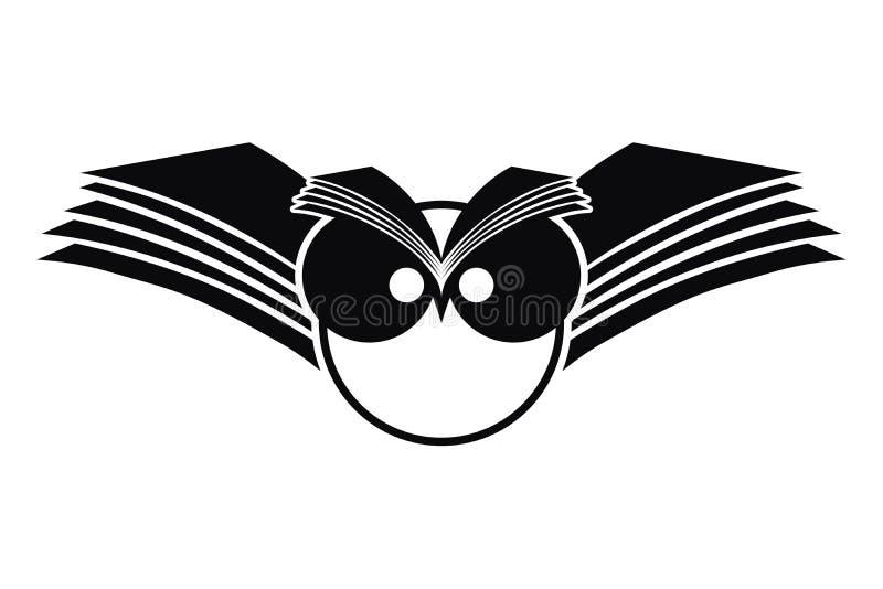 Logotipo da silhueta da coruja ilustração royalty free