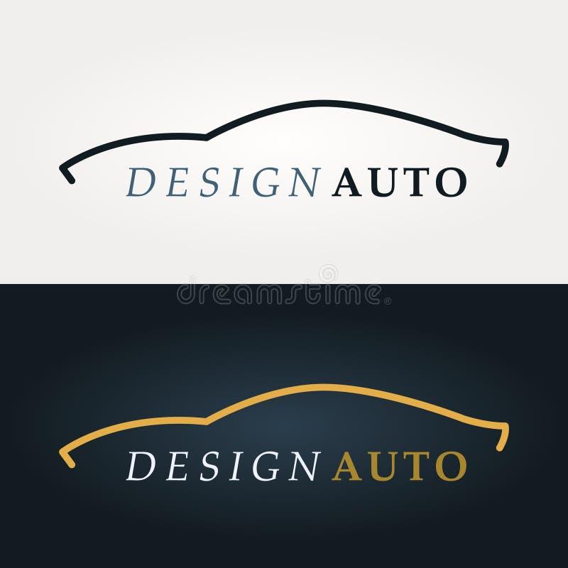 Logotipo da silhueta do carro ilustração royalty free