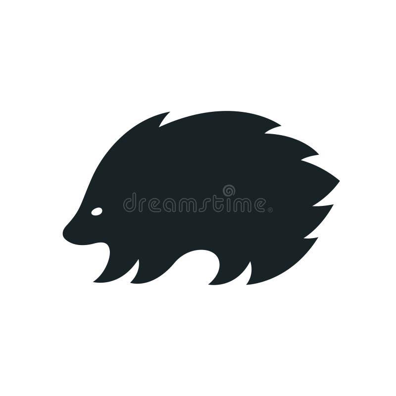 Logotipo da silhueta do porco- ilustração do vetor