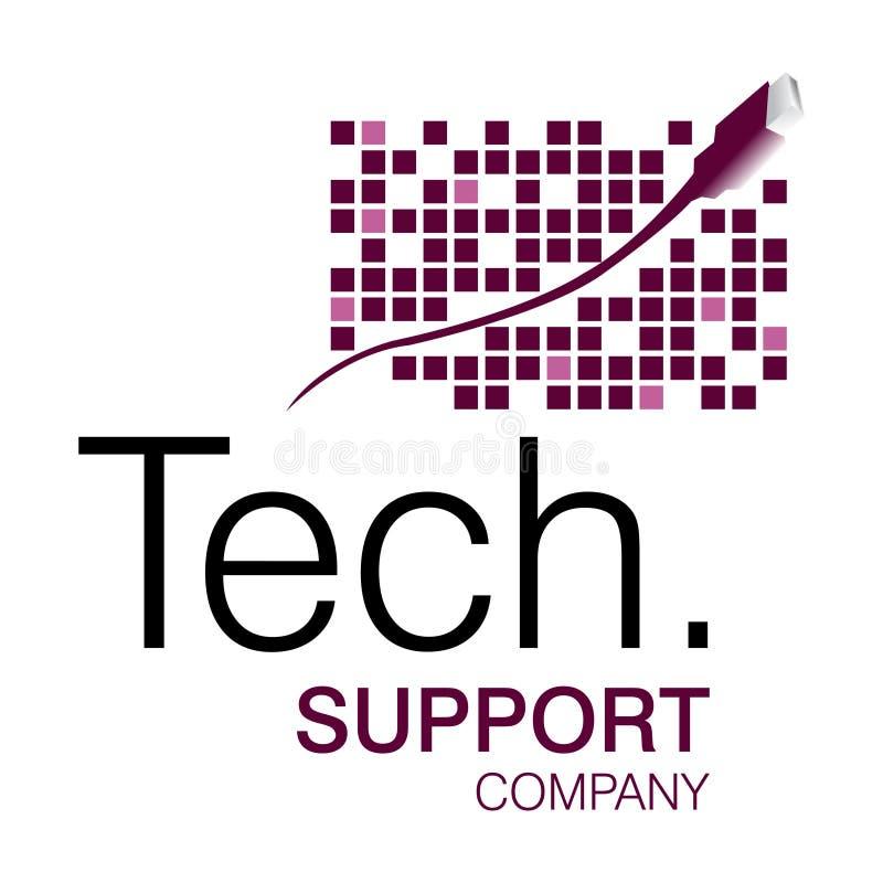 Logotipo da sustentação da tecnologia ilustração royalty free