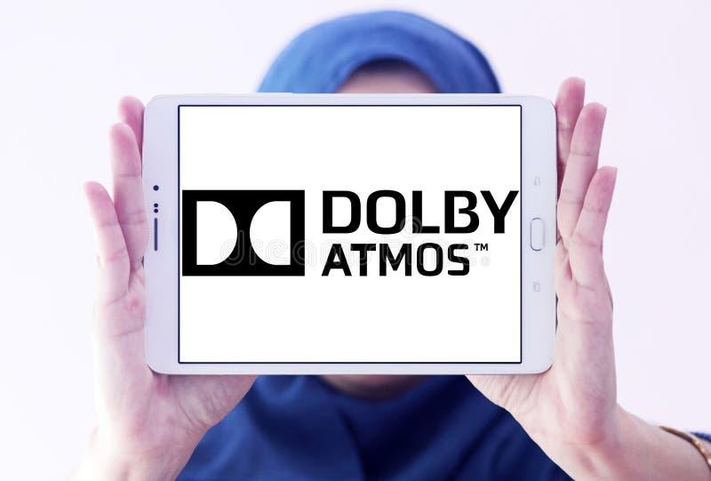 Logotipo da tecnologia do som do vapor do Dolby foto de stock