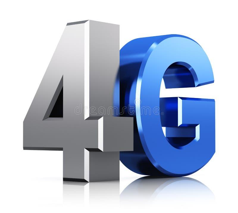 logotipo da tecnologia sem fios de 4G LTE ilustração do vetor