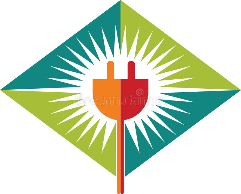 Logotipo da tomada de poder ilustração royalty free