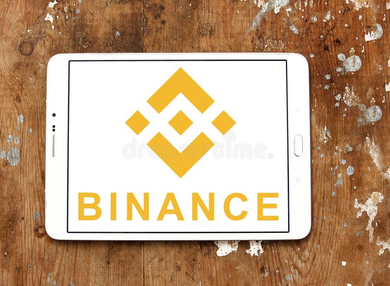 Logotipo da troca do cryptocurrency de Binance imagem de stock royalty free