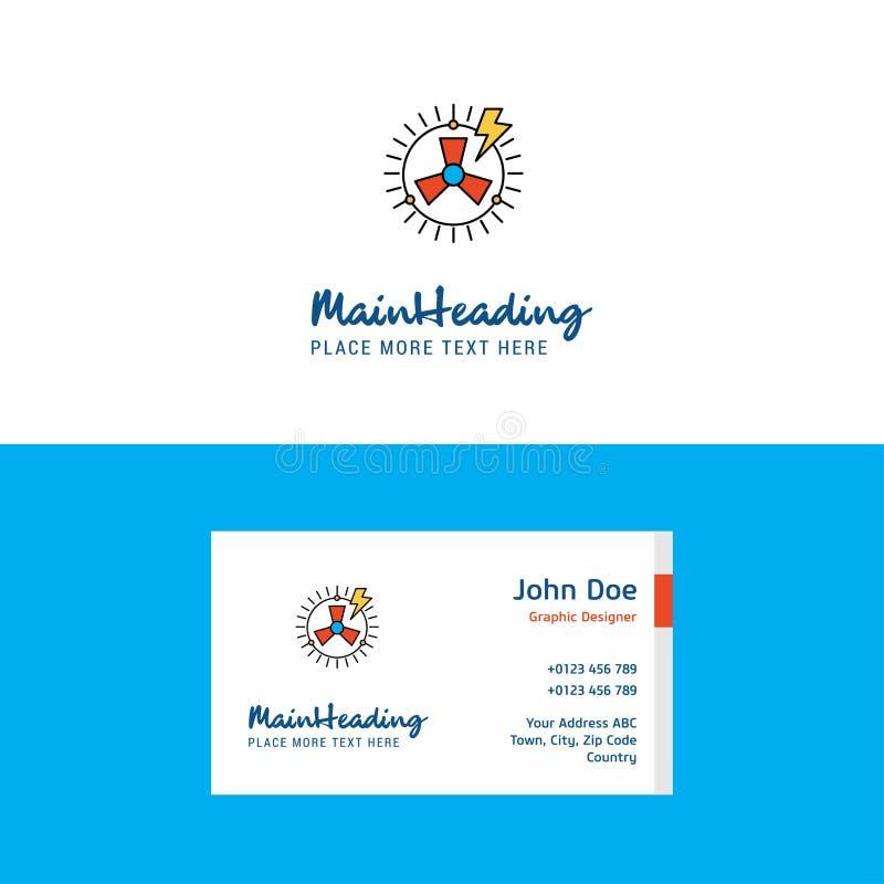Logotipo da turbina e molde lisos do cartão de visita Conceito Logo Design de Busienss ilustração stock
