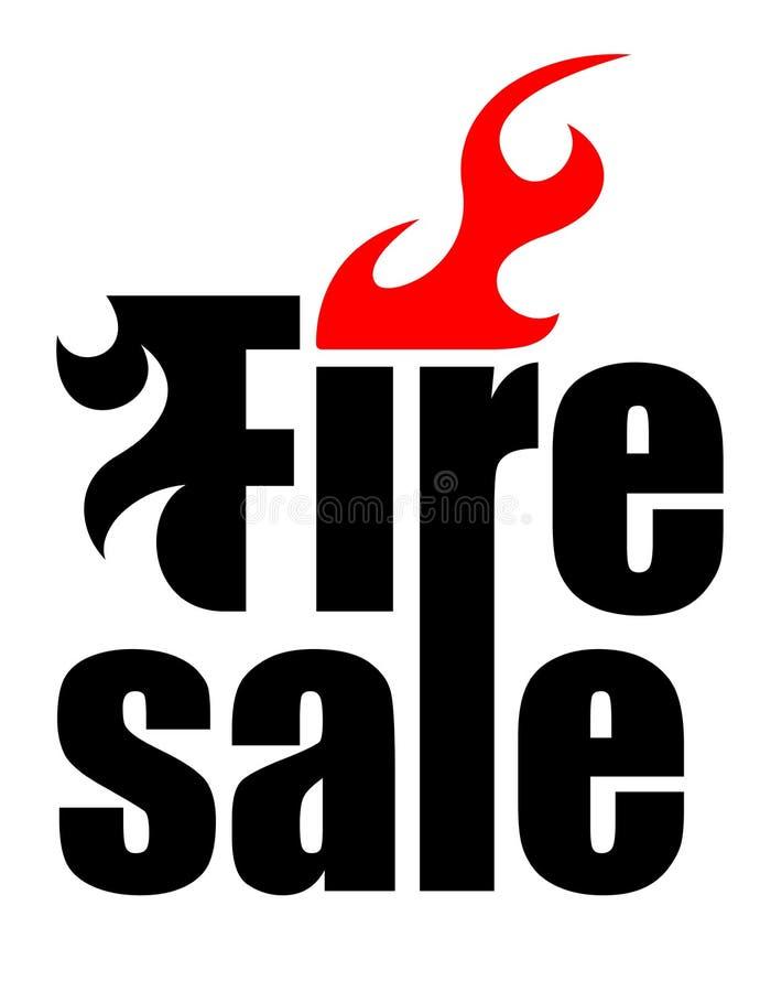 Logotipo da venda de fogo ilustração stock