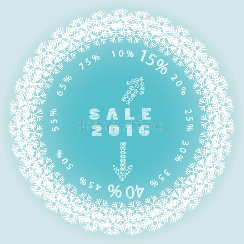 Logotipo da venda do Natal com setas ilustração royalty free